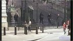 CCTV of Downing Street gates