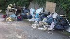 Rubbish dumped at Arch Hill