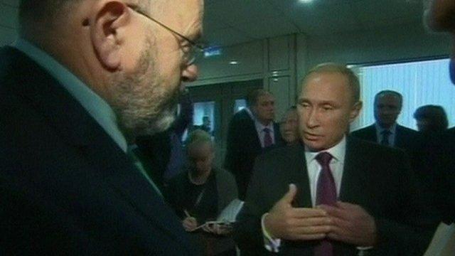 BBC's John Sweeney talks to Russian President Vladimir Putin