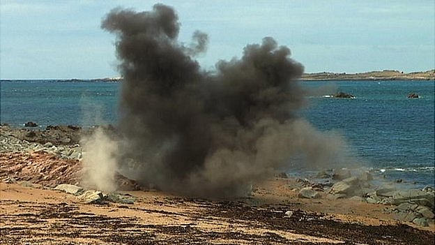 WW2 shell detonated by Guernsey Police bomb disposal team