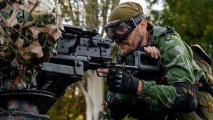 Pro-Russian rebel in Donetsk region (31 August 2014)