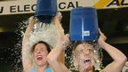 Women doing ice bucket challenge