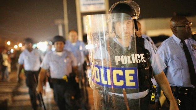 Police in Ferguson