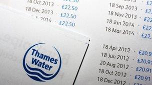 Thames Water bill