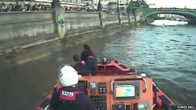 Still from RNLI video footage