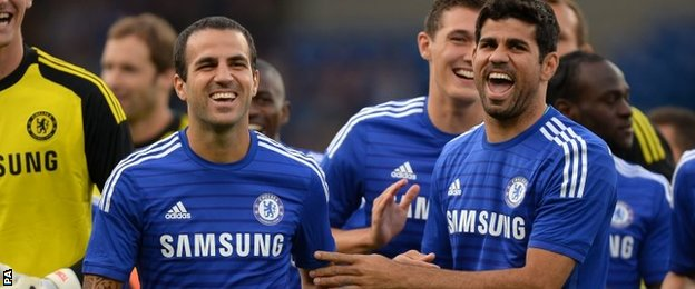 Cesc Fabregas and Diego Costa