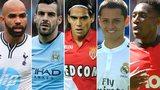 Sandro, Alvaro Negredo, Ramadel Falcao, Hernandez and Danny Welbeck