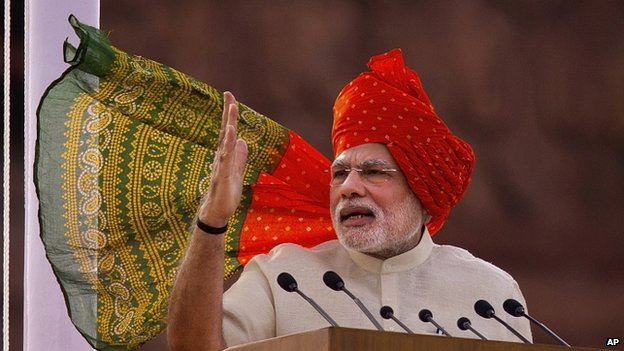 Narendra Modi gave his first Independence Day speech as PM on 15 August