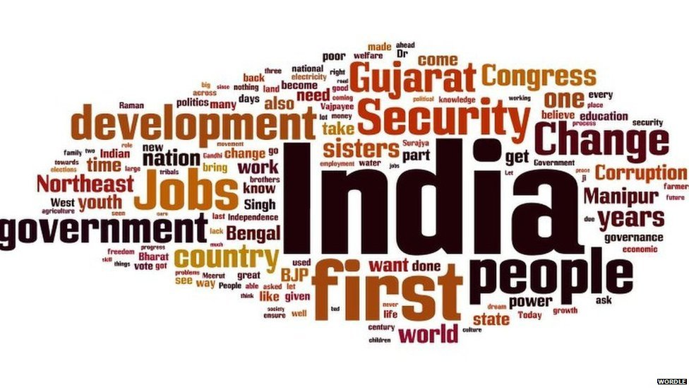 Mr Modi's words as a PM candidate