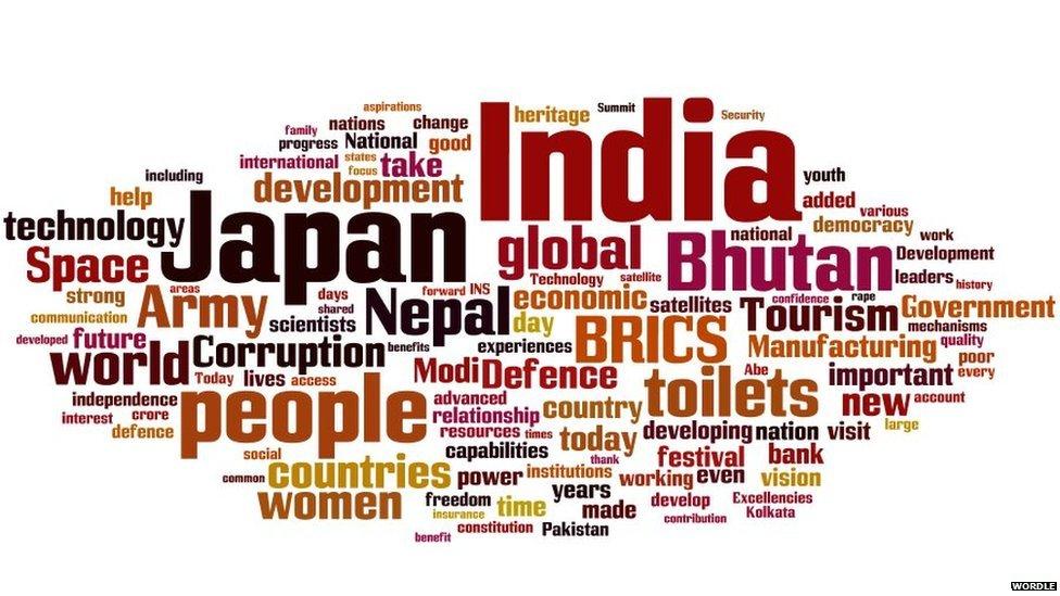 Mr Modi's words as prime minister