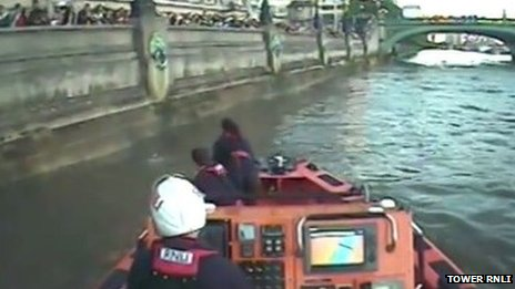 Still from RNLI video footage