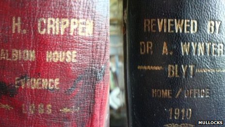 Ledgers used by Dr Crippen