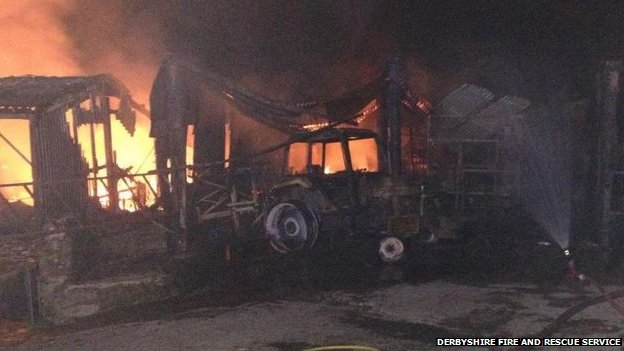 Barlow barn fire