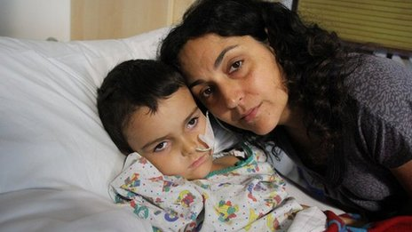Ashya King with his mother Naghemeh