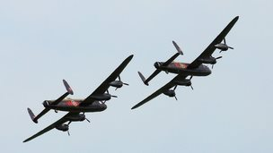 Two airworthy Lancaster Bombers