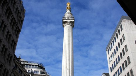 The Monument in the City of London