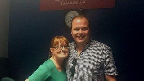 Actor Gavin Spokes with Helen Jones