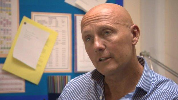 Gary Johnson, headteacher of Kirkburton Middle School