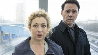 Alex Kingston and Reece Shearsmith in Chasing Shadows