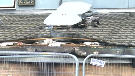 Fire damage at Ashbourne Leisure Centre