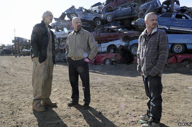 Scene from Breaking Bad in scrapyard