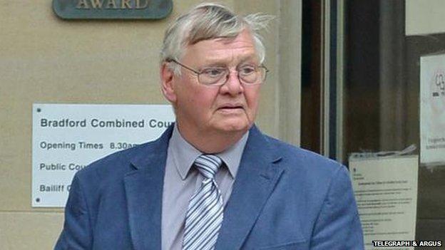 John Laister leaves Bradford Crown Court