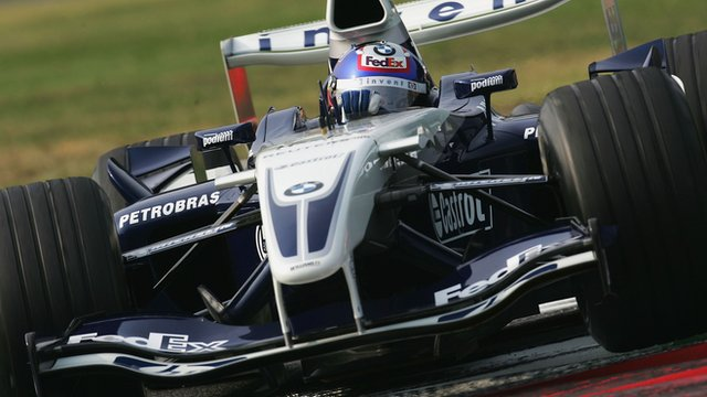 Juan Pablo Montoya drives at Monza