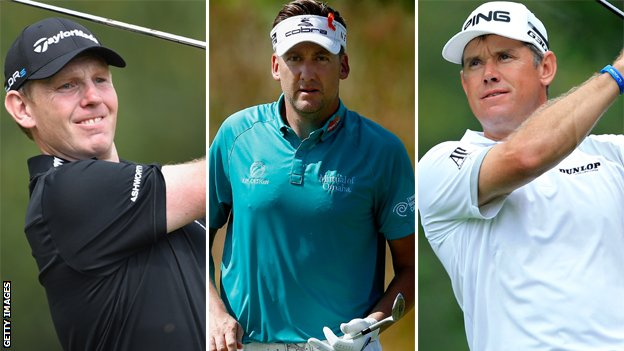 Stephen Gallacher, Ian Poulter and Lee Westwood