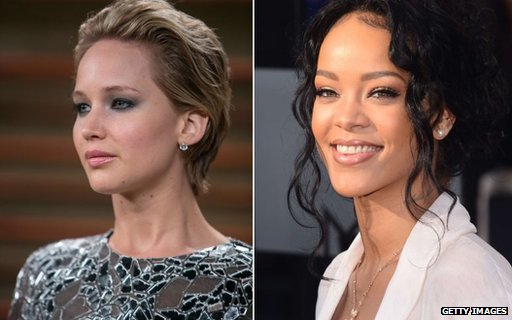 Jennifer Lawrence and Rihanna