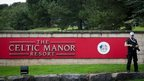 Security has been stepped up around the Celtic Manor in Newport