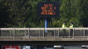 Matrix warning sign on M4