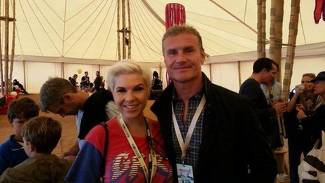 Kat Orman and David Coulthard