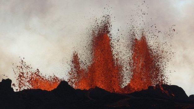 Lava eruption