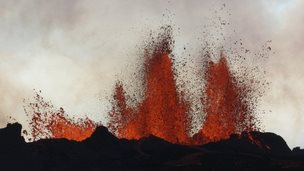 Lava eruption
