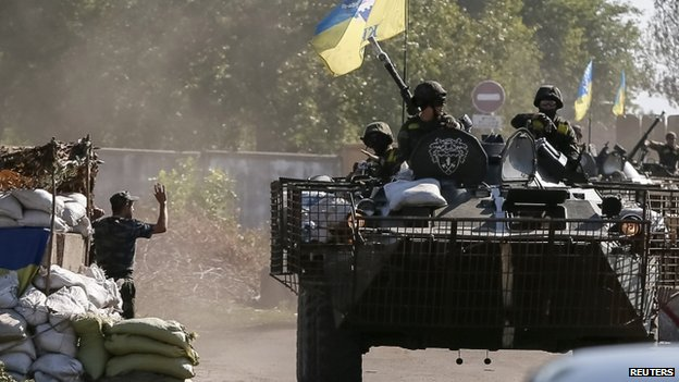 Ukrainian troops near Kramatorsk, Donetsk region