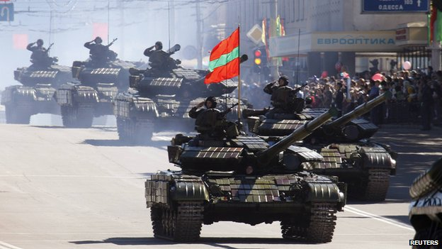 Russian tanks in Tiraspol, Sept 2010