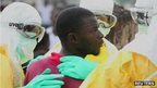 An escaped ebola patient is confronted by doctors