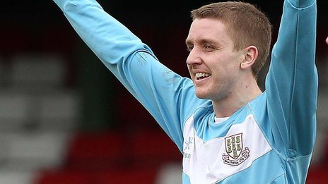 Ally Teggart scored both goals in Ballymena's win over Institute