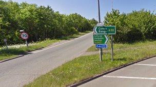 A55 at Llandudno Junction