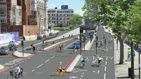 Design for segregated cycle line