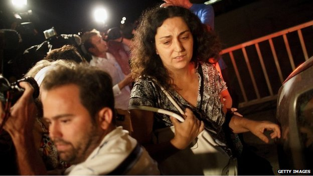 Naghemeh King after her release from prison