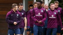 England team come out for training