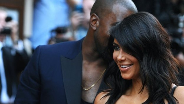 Kim Kardashian and Kanye West attend the GQ Men of the Year awards at The Royal Opera House