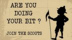 A scouts recruitment poster