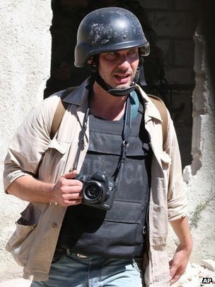 Russian photographer Andrei Stenin in Damascus in 2013