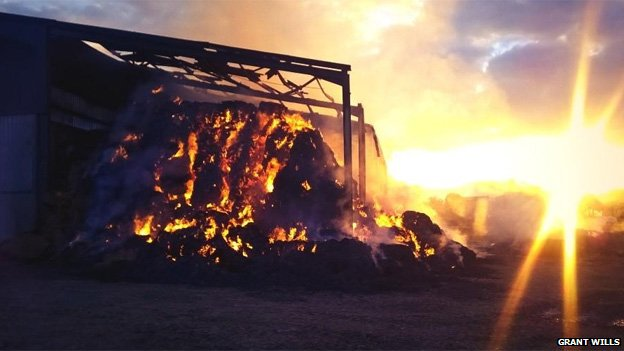 Oreton barn fire