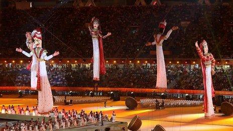 Opening ceremony at Delhi Games
