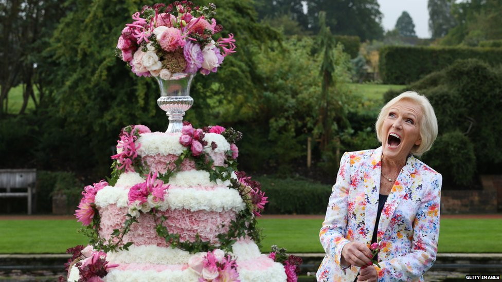 Mary Berry at Wisely Flower Show