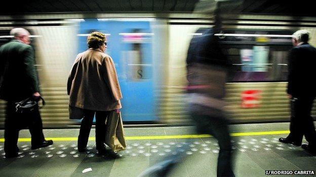 Lisbon Metro train