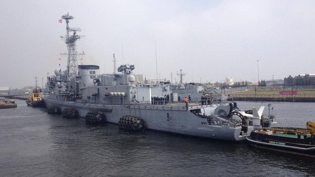 French anti-submarine frigate La Motte-Picquet arrived in Cardiff on Wednesday afternoon